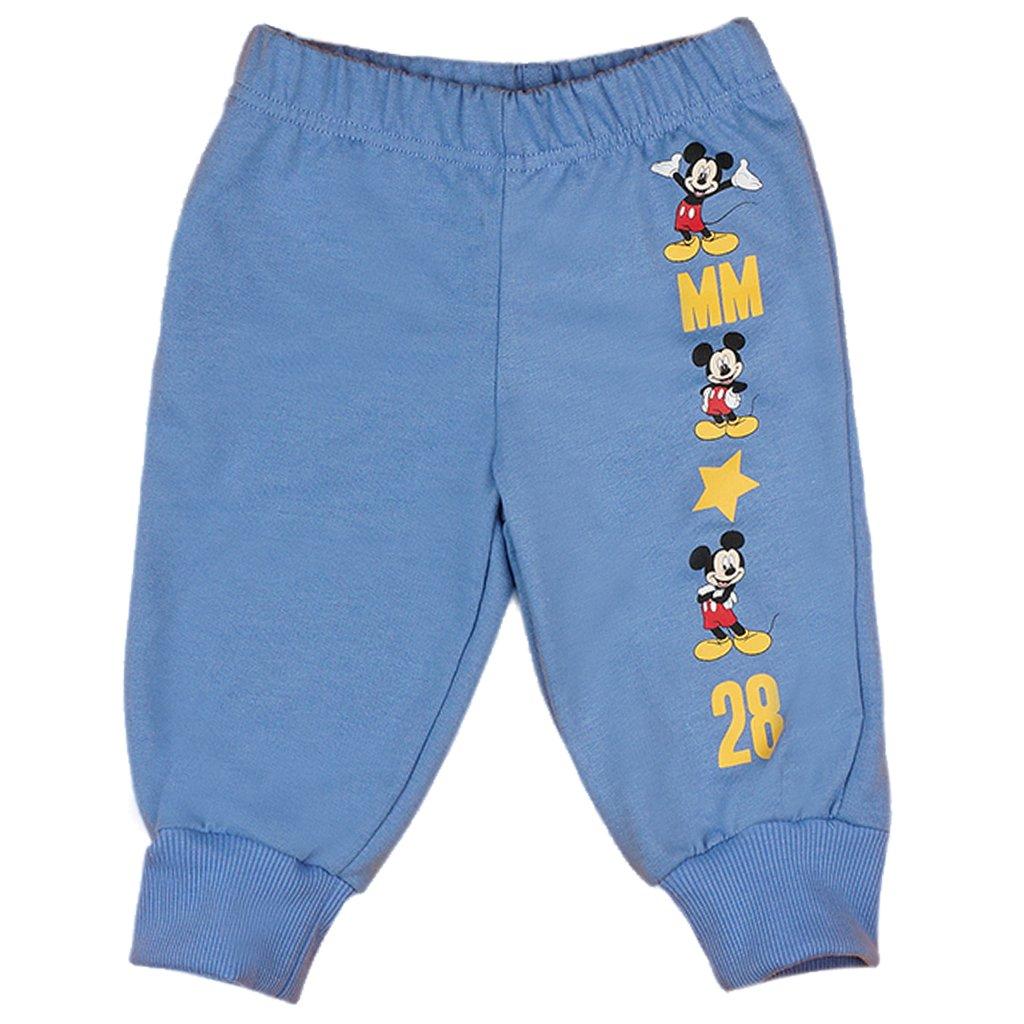 Jungen BABY-HOSE / Kinder-Hose Mickey Mouse, GRÖSSE 68, 74, 80, 86, 92, 98, SPIEL-HOSE mit süßen Motiv-Applikationen, als Freizeit-Hose oder Jogging-Hose mit elastischen Bündchen GRÖSSE 68