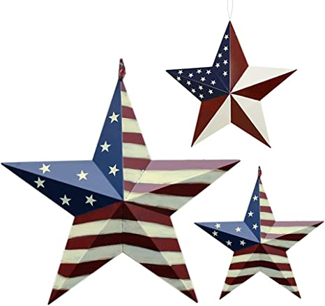 Patriotic Metal Barn Star Outdoor Indoor Hanging Wall Decor Star Ornaments 4th Of July Decoration Country Style 12 22 Ab Everything Else