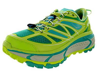 4407c0db402a95 Image Unavailable. Image not available for. Colour  Hoka One One Women s W Mafate  Speed Acid Agua Grey Running Shoe ...
