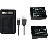 2 szt. 1800 mAh PAN BLC12 DMW-BLC12 bateria z jedną ładowarką LCD do Panasonic Lumix FZ1000, FZ200, FZ300, G5, G6, G7…
