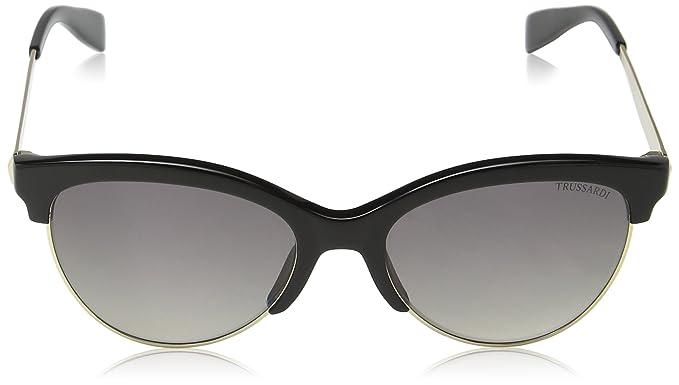 Trussardi Damen Sonnenbrille Str019, Beige (Shiny Black), Einheitsgröße