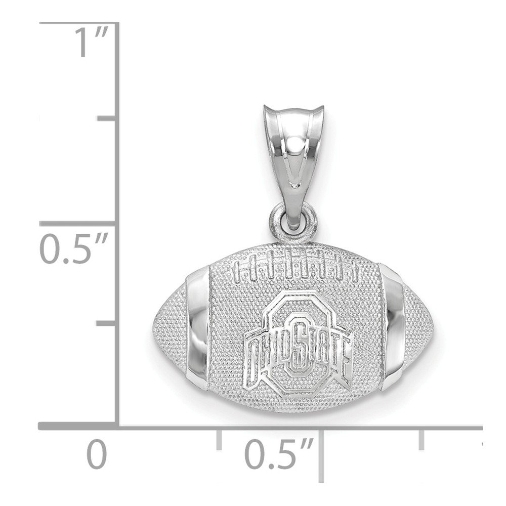 Jewel Tie 925 Sterling Silver The Ohio State University Ohio State on Block O Athletic Mark 3D Foo