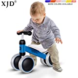 EWOKI Baby Walker Balance Bikes Bicycle Toy for Children 10-24 Months,Outdoor Toddler Bike for1 Year Old Boys Girls No Pedal Infant 4 Wheels First Birthday Gift Blue