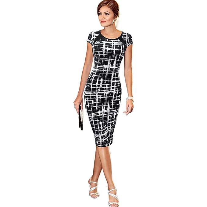 yubaneighteen Womens Summer Fashion Black White Polka Dots Dress Sports Apparel Women
