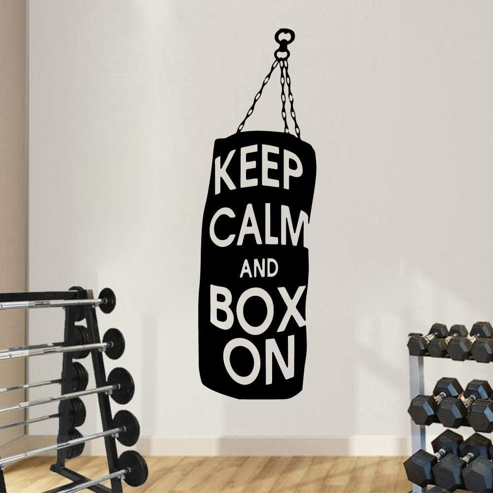 pegatina de pared frases Exquisito boxeo Mantenga la calma y la ...