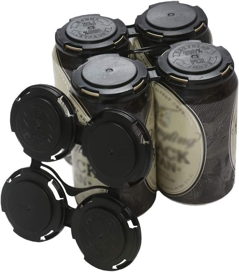 Cool Coast Products - Four (4) Pack Reusable Beer Can Holder Carriers | 100% Recycled Plastic Can Carrier Holders | 12oz or 16oz USA Made for Breweries | Homebrewing Beverage Canner (4)