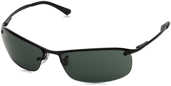 Attirant Ray Ban RB3183 Top Bar Rectangular Sunglasses, Grey (004/71 Gunmetal)