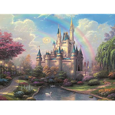Jigsaw Puzzle - Dream Castle, Portable Puzzle Game for Children and Adults (1000PCS): Toys & Games