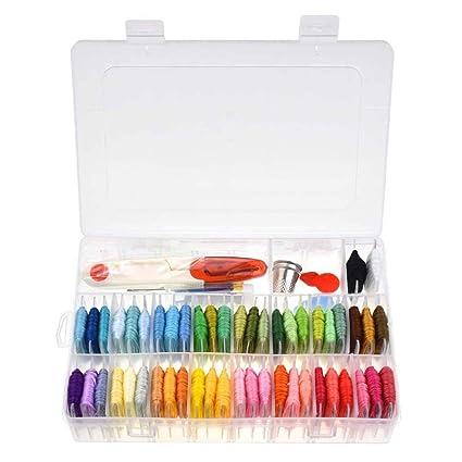 Amazon Kobwa Embroidery Floss Thread With Organizer Storage Box