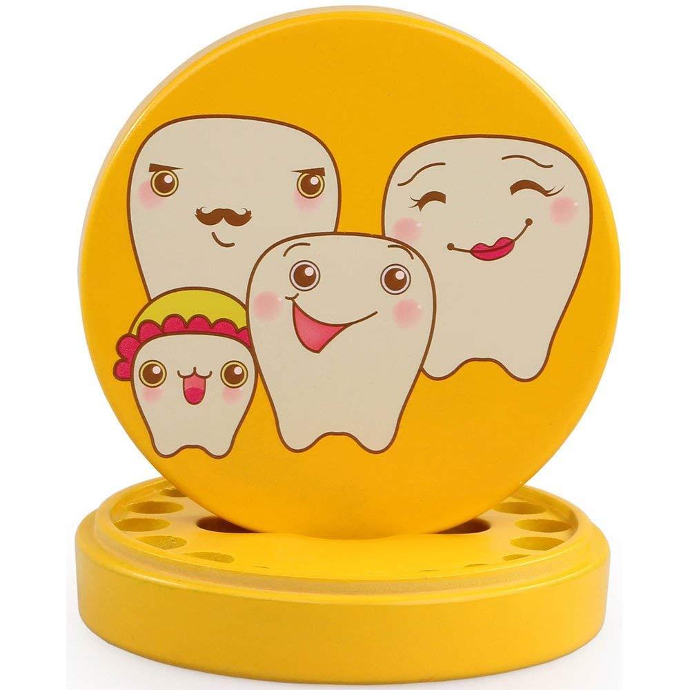 XSM Bo/îte /à dents en bois pour dents Bo/îte /à dents en bois Collection Bo/îte /à dents pour b/éb/é Bo/îte /à souvenirs Bo/îte /à souvenirs Bo/îte organisateur Jaune