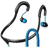 Surge Sportwrap+ IPX8 Waterproof Headphones | Neckband Headphones / In Ear Headphones | Sport Headphones w/ 3.5mm Headphone Jack | Noise Cancelling Headphones w/ 6 sets of Earplugs & 1 Year Warranty