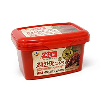 CJ Haechandle Gochujang, Hot Pepper Paste, 1kg (Korean Spicy Red Chile Paste,