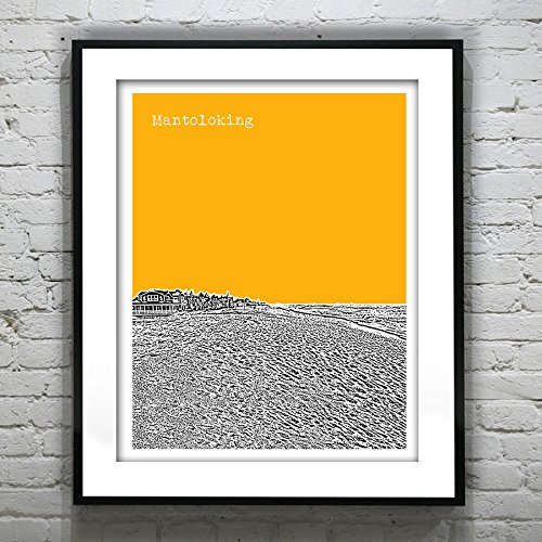 Mantoloking New Jersey Art Print Poster - Mantoloking, Nj - Version 2