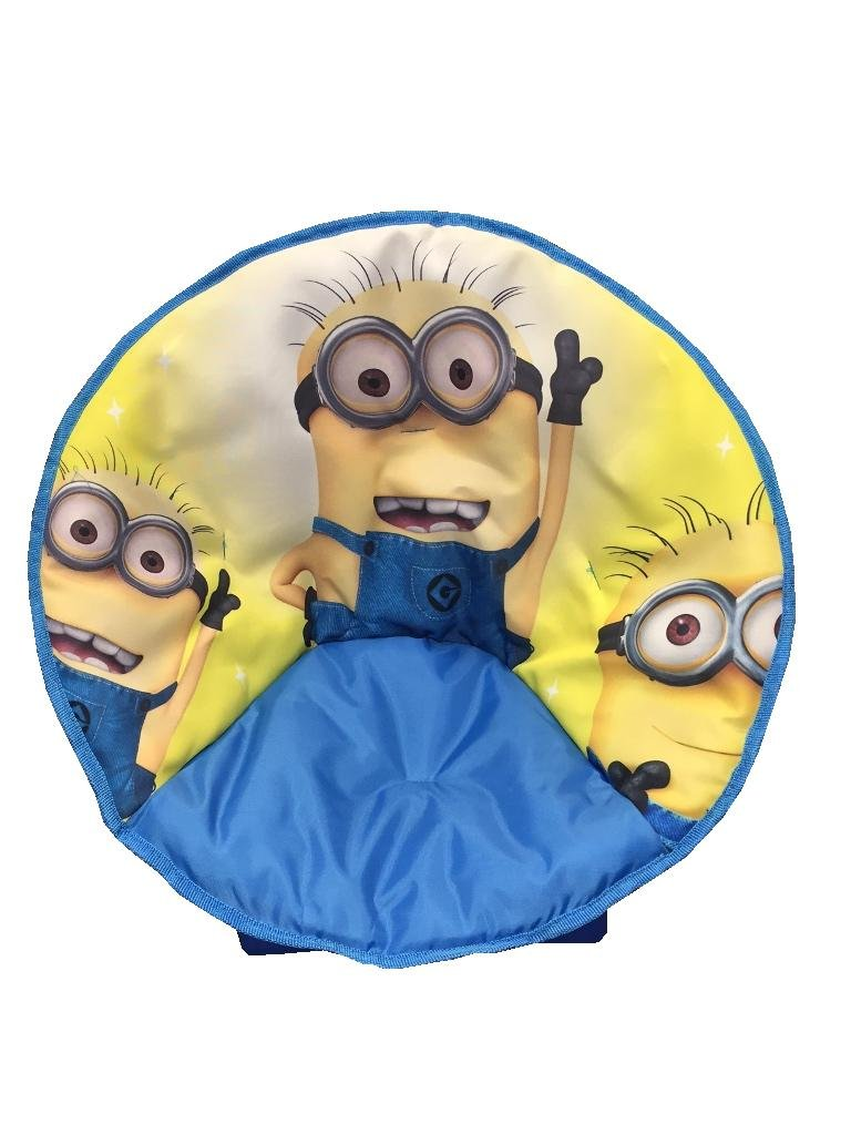 just4baby Kids Children Foldable Bedroom Play Room Moon Chair Minion Design