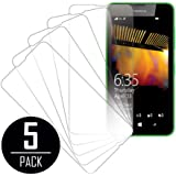 Nokia Lumia 635 Screen Protector Cover, Ultra Clear 5-Pack - MPERO