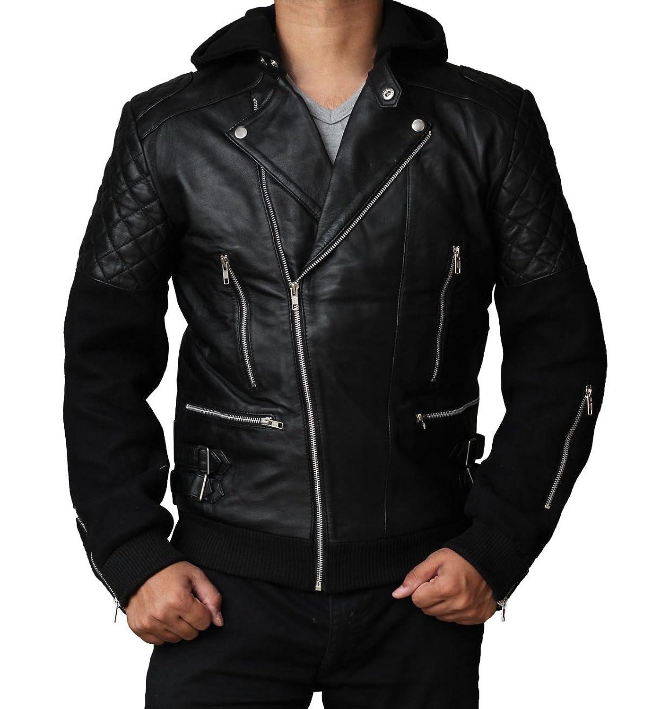 Chris Brown Black Leather Jacket