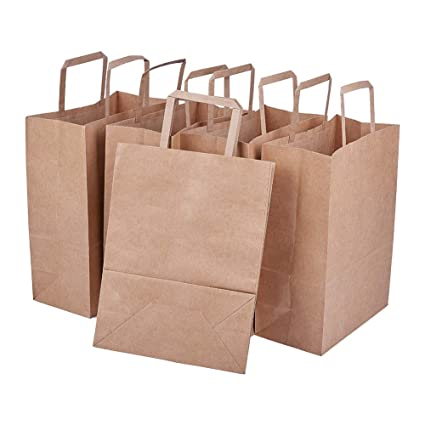 BENECREAT 15 Pack Bolsas de Regalo de Papel Kraft con Asas ...