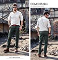 INFLATION Men's 100% Cotton Wild Casual Pants for Mens Slim-fit Cargo Pants Work Pants Trousers