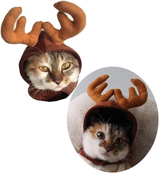 SuboZhuLiuJPet - Gorro de Navidad para Perro, Cachorro, Gato, Reno ...
