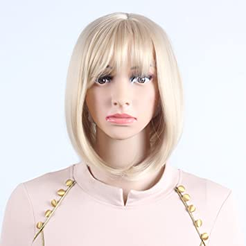 Sif Straight Wigs for Women Bob Blonde style Synthetic Wig Natural Looking  Heat Resistant Wigs with 3b8e377cb