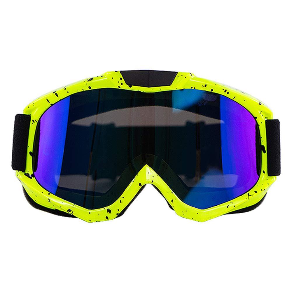 Accrie Occhiali per Moto Classi di Occhiali per Motocross Gafas da Ciclismo Occhiali da Corsa Fuoristrada Occhiali da Sole per Sport Ourdoor Montatura Nera Lente Oro