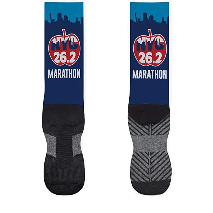 Amazon.com: Printed Mid Calf calcetines NYC Running para ...