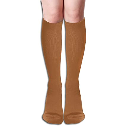 a083598ce Image Unavailable. Image not available for. Color: JINUNNU Knee High Socks  Windsor Tan Solid Color Cute Dress Socks for Girl Women