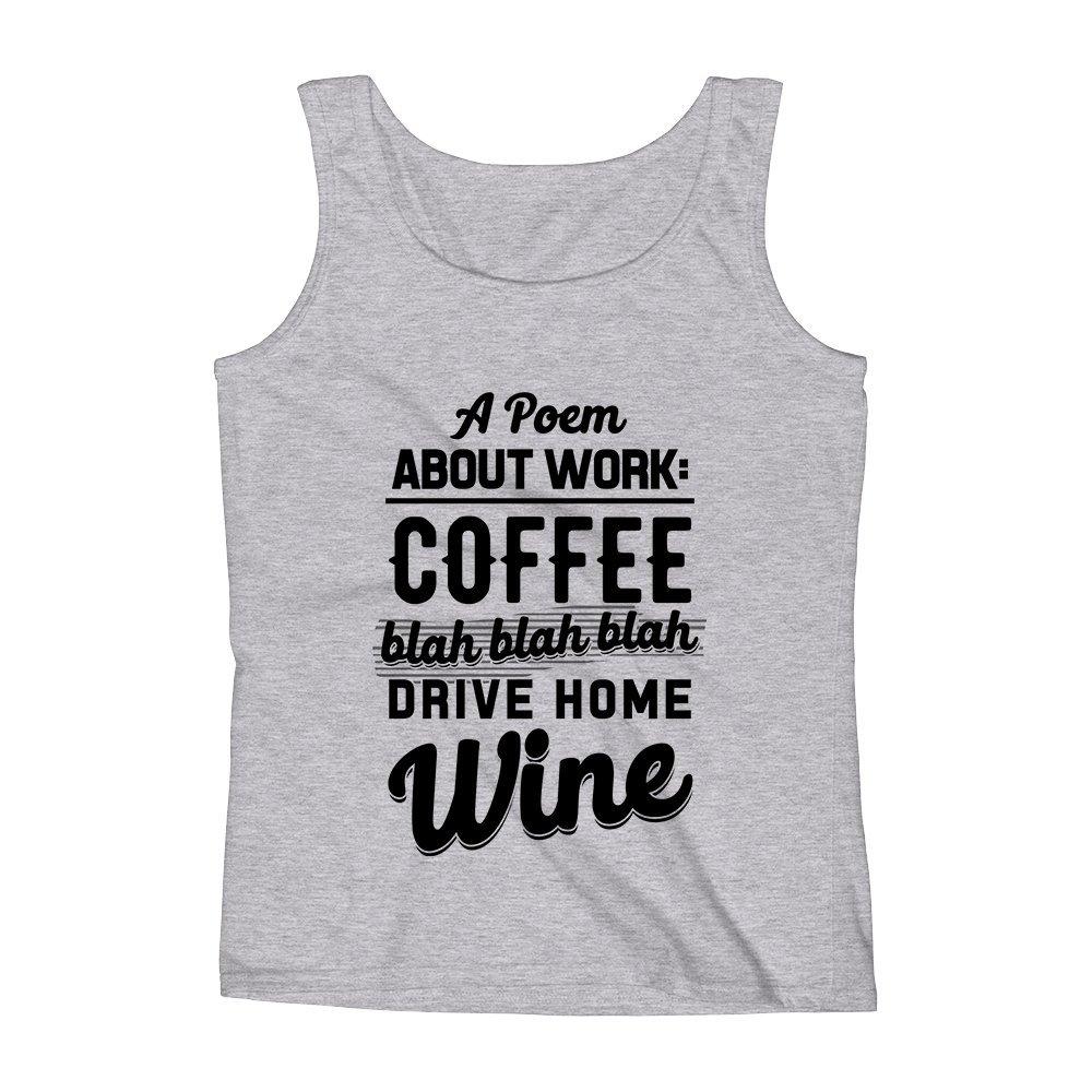 Mad Over Shirts A Poem About Work Coffee Blah Blah Blah Unisex Premium Tank Top