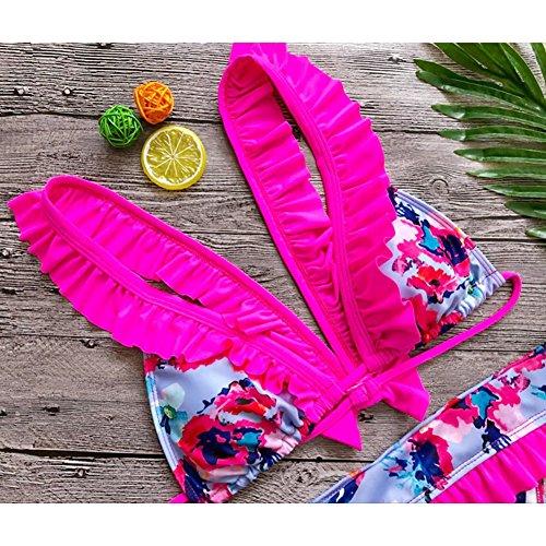 Nuoto S Bikini Tankini Rosado Da Costume Bagno Sexy Spiaggia Top Kootk Impostato Donna Bagnarsi Costumi Due Swimsuit E Slip Pezzo Suit Fqx74cH