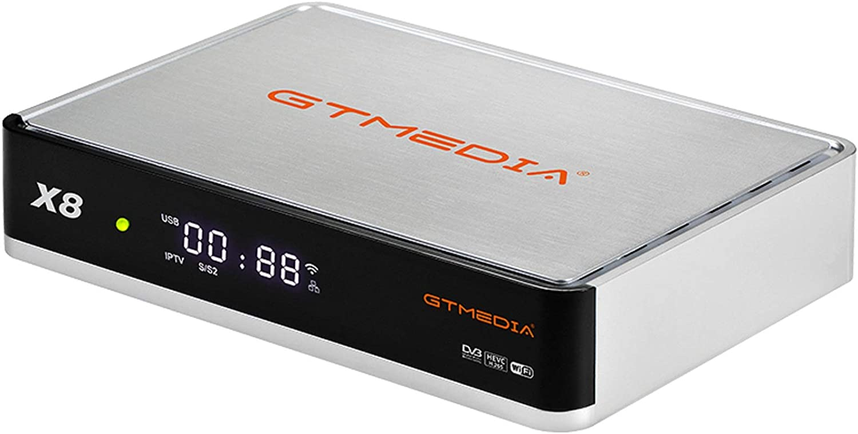 V8 UHD Supporta 4K H.265 HEVC Main 10bit PowerVu DRE Biss PVR con WiFi//SCART GT MEDIA 4K Digitale Satellitare Ricevitori Decoder Terrestre DTT DVB-S2X//T2//Cavo con Smart Card Reader