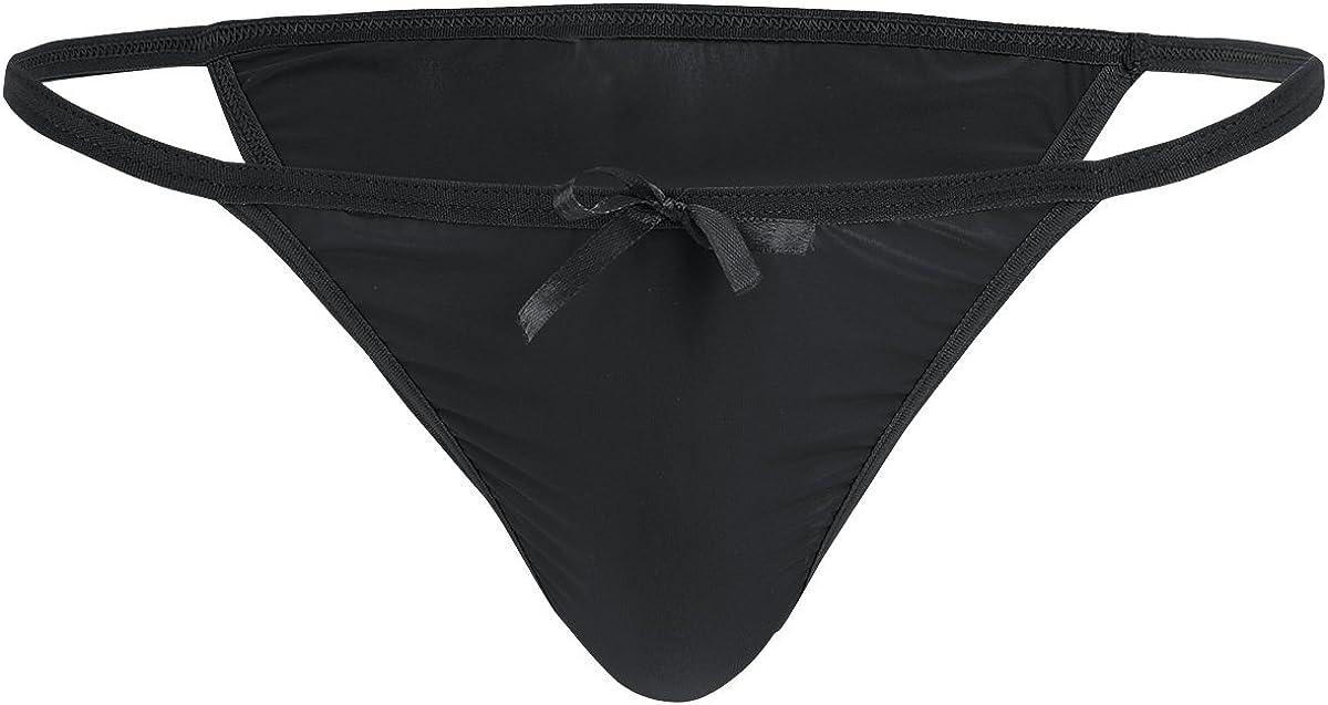 Men Lingerie Sissy Pouch Panties Tanga Bikini Briefs Low Rise Bowknot Underwear