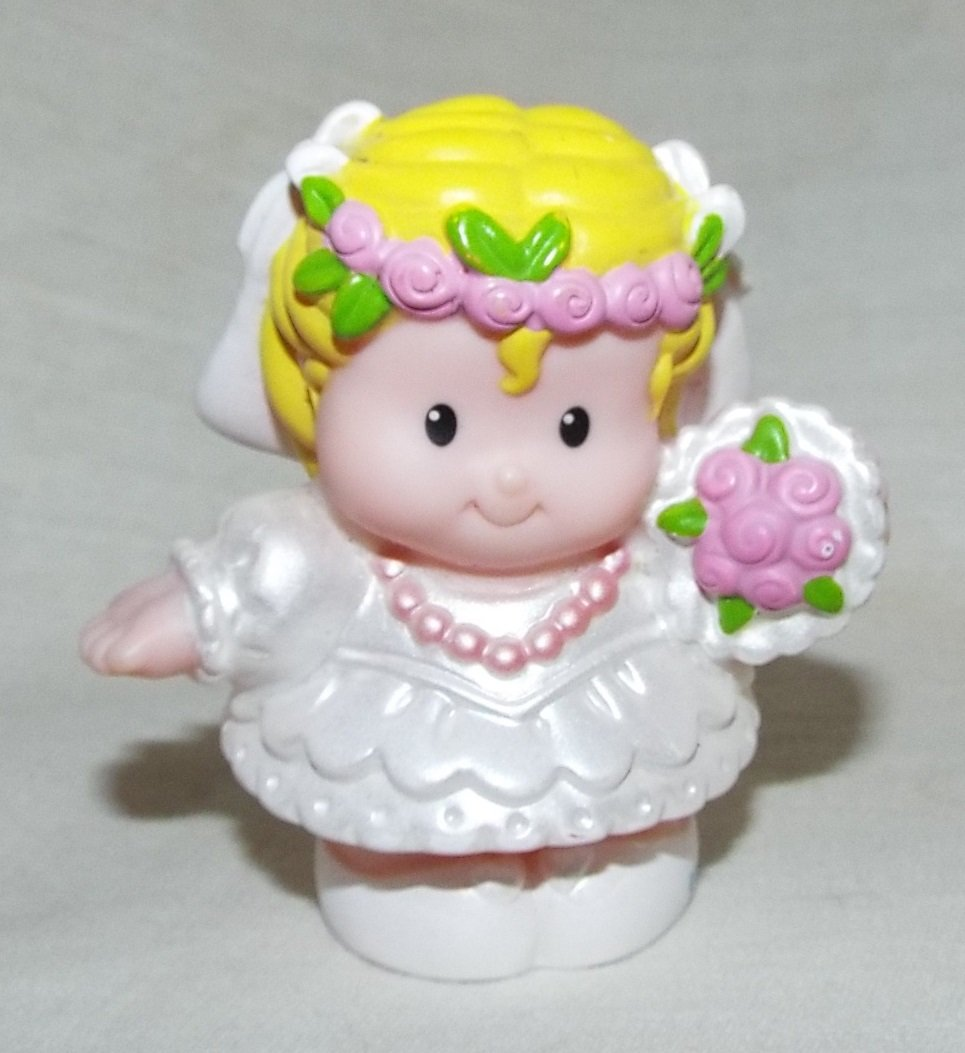 Little People Fisher Price Wedding Celebration Replacement Bride Sarah Lynn 2007 Loose//Repackaged