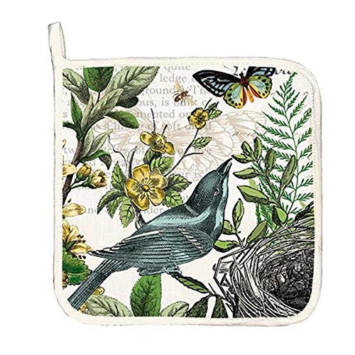 Michel Design Works 4 Piece Into The Woods Birds and Butterflies Kitchen Set - 2 Towels, Oven Mitt, Potholder by Michel Design Works (Image #3)