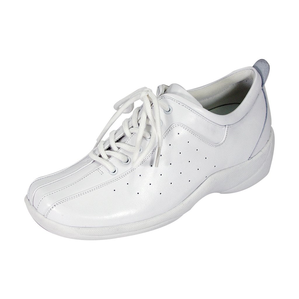 24 Hour Comfort  Tara Women Wide Width Lace Up Shoes White 8.5