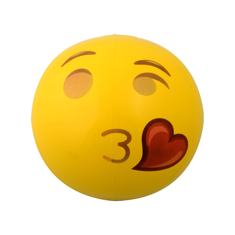 Kangaroo Emoji Universe: 12'' Emoji Inflatable Beach Balls, 12-Pack by Kangaroo (Image #6)