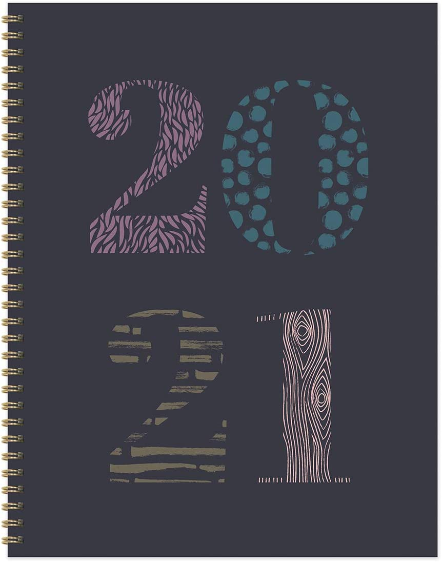 """TF PUBLISHING 2021 Patterned Year Purple Large Weekly Planner Monthly Calendar - Appointments, Notes, Reminders, Motivation - Home or Office Planning and Organization- Premium Uncoated Paper 8.5""""x11"""""""