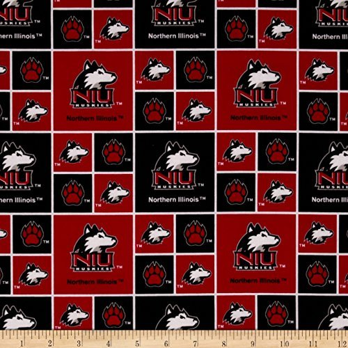Sykel Enterprises Collegiate Cotton Broadcloth Northern Illinois University Red Fabric by The Yard, ()