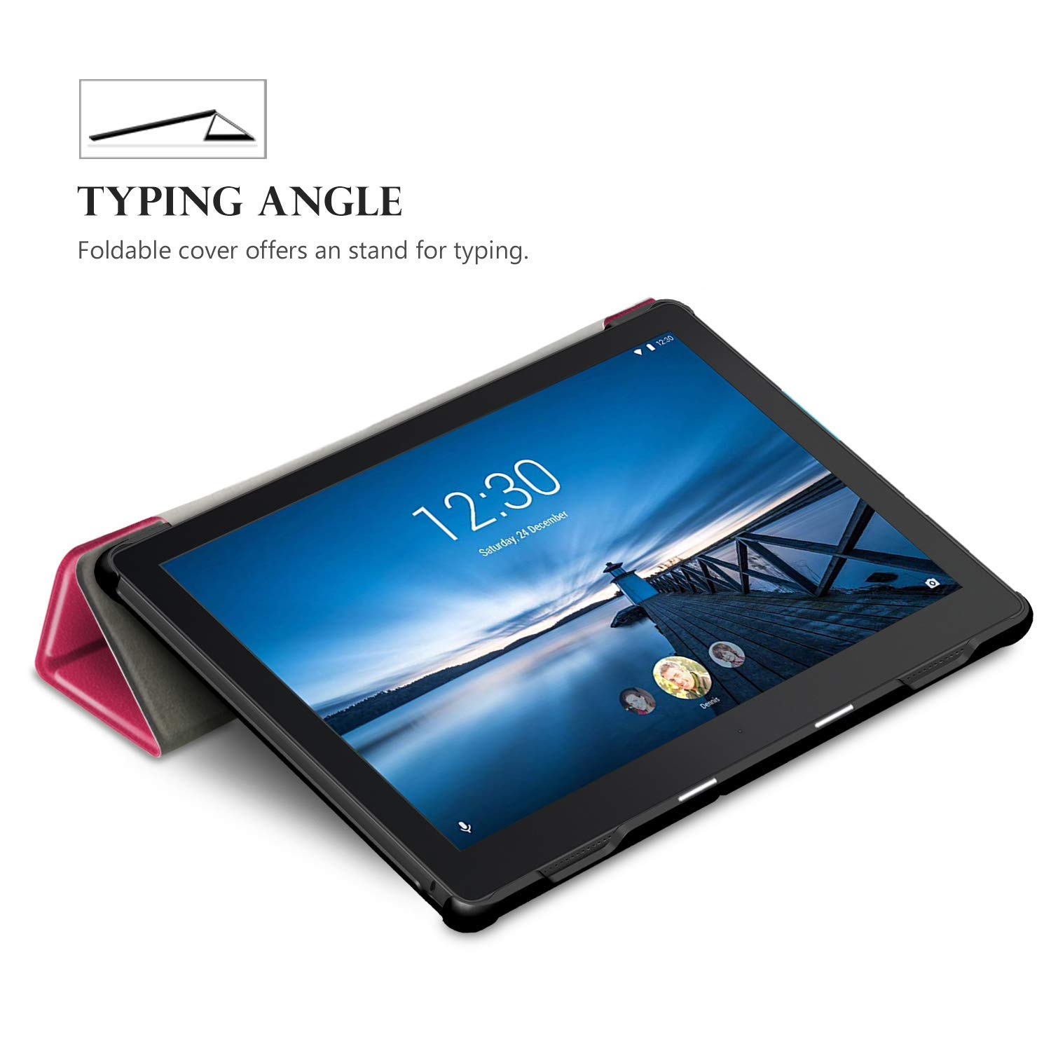 Case With Keyboard Black Fast Delivery Free Screen Protector And Stylus Pen Included Starter Kit Lenovo Tab E10 TB-X104F Tablet Smart Case Available Prime