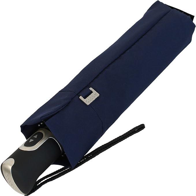 Knirps Carbonsteel Magic Uni Navy Paraguas clásico, 94 cm, Azul (Navy)