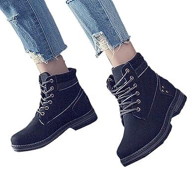 8e055ba93919e Amazon.com: Memela Clearance Sale!!Women Solid Lace Up Boots Casual ...