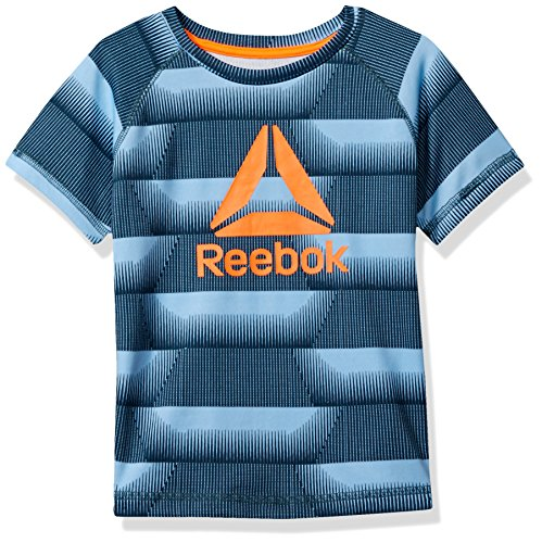 Price comparison product image Reebok Little Boys' Printed Tee, Pale Blue, 5