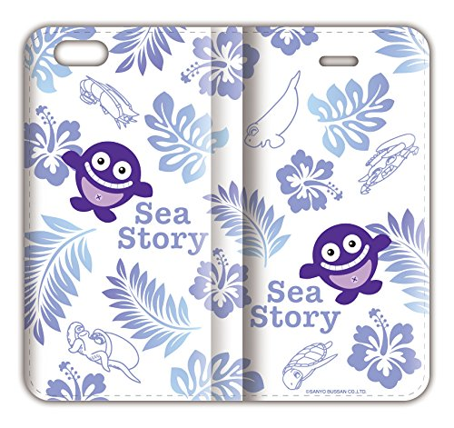 海物語 手帳型iPhone6カバー クジラッキー ブルーの商品画像