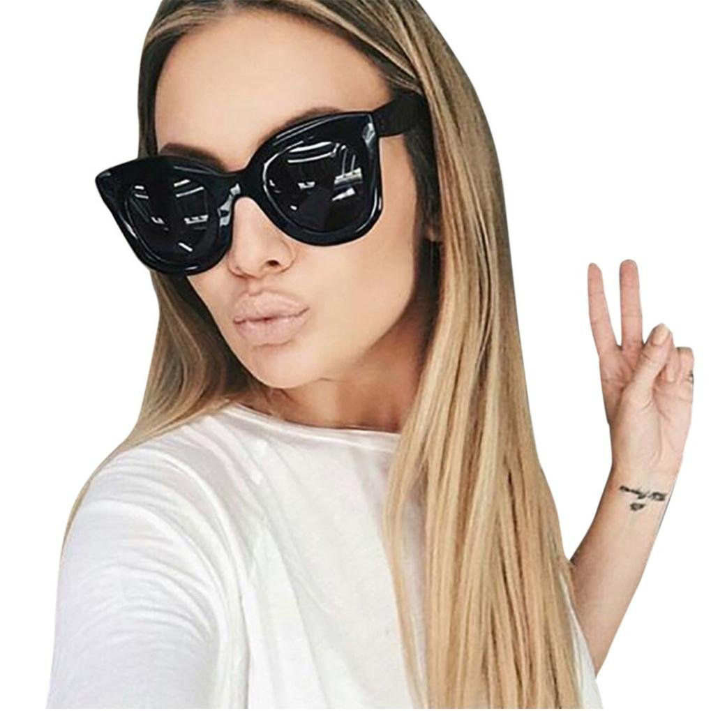 Occhiali da sole Retro, feiXIANG® Donna & Uomo Classic Moda Occhialoni Unisex Ovale Occhiali Vintage Occhio del Gatto Telaio Shades Acetato UV