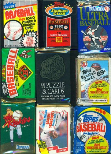 300 OLD BASEBALL FOOTBALL BASKETBALL HOCKEY CARDS ~ SEALED WAX PACKS CARD BOX!