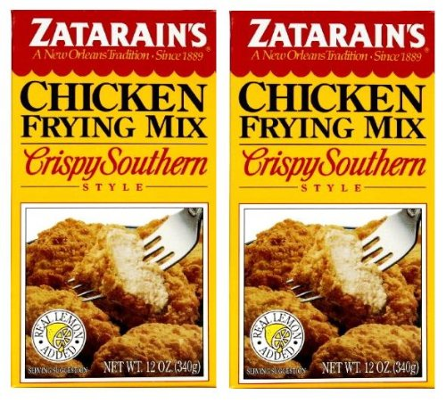 Zatarain's New Orleans Style Chicken Frying Seasoning Mix (12 oz Boxes) 2 Pack (Southern Style Chicken)