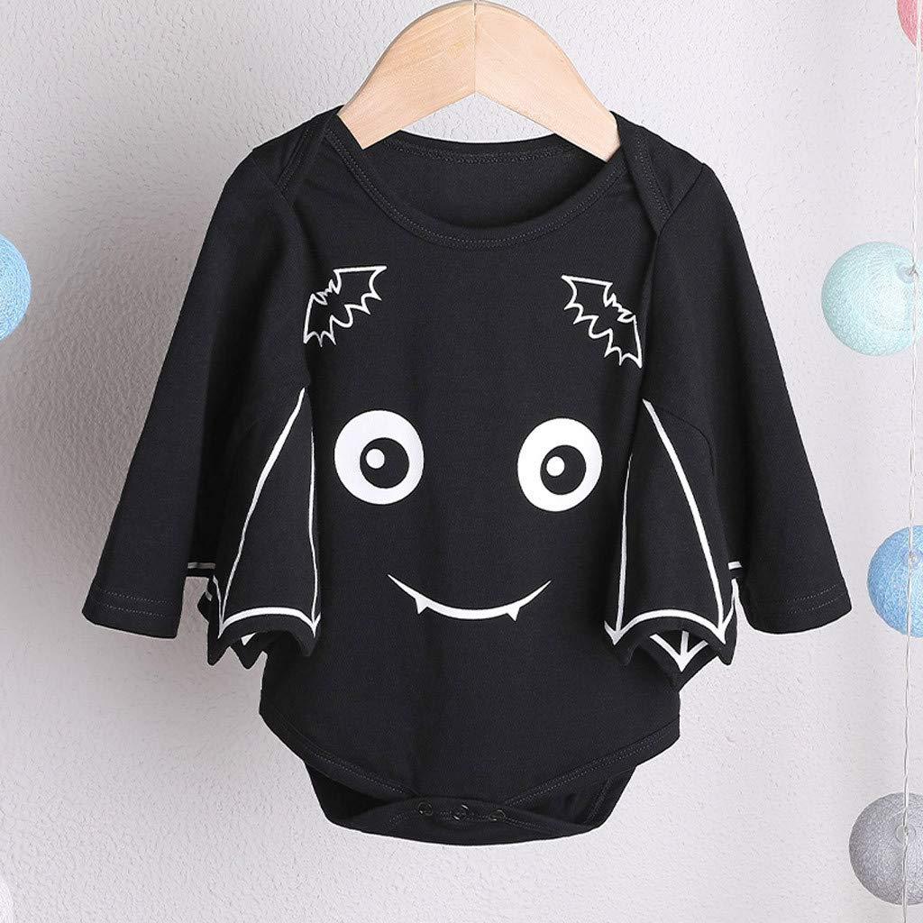 Baby Romper Halloween,Longra Newborn Infant Baby Boy Girl Halloween Cartoon Bat Costume Romper Outfits 0-24 Months