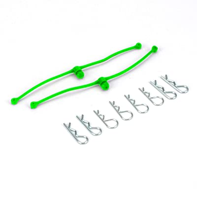 Dubro Products Body Klip Retainers (Lime Green), DUB2253: Toys & Games
