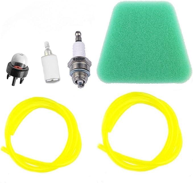 HPENP Air Fuel Filter Primer Bulb Fuel Line Spark Plug for Poulan ...