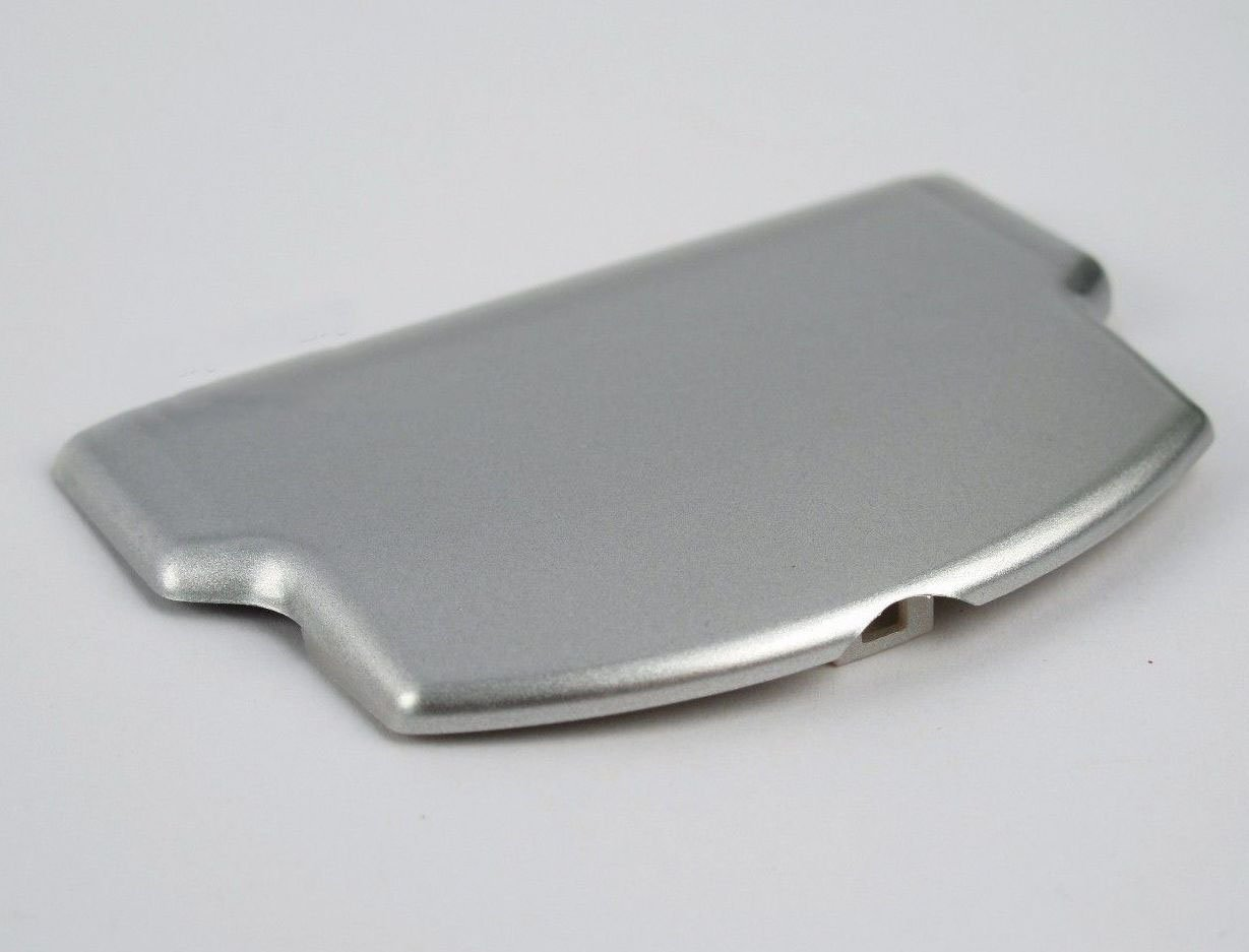 Battery Protector Cover Door Repair Parts Replacement for PSP 2000 3000 (Silver)