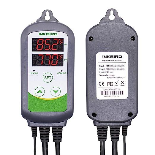 Inkbird Ensemble de Combinaison ITC-308+IHC-200 Controleur dhumidit/é Contr/ôleur de Temp/érature et IHC-200 Hygrostat ITC-308 Thermom/ètre